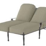 Casual Grand Terrace Collection Cast Aluminum Double Chaise Lounge