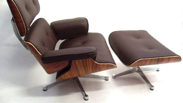 Ceames Lounge Chair Matching Ottoman Replica Original Style