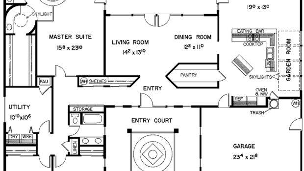 Center Courtyard House Plans Houses Designs