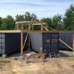 Centre Great Room Driveway Entrance Shipping Container Cabin