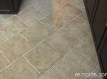 Ceramic Tile Installed Kitchen Floor