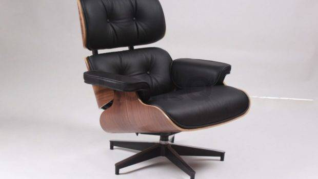 Chair Contemporary Cool Computer Wallnut Black Leather