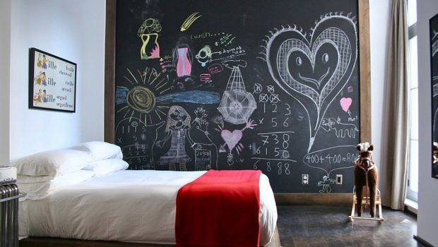 Chalkboard Paint Wall Bedroom Design Annie Hall Interiors