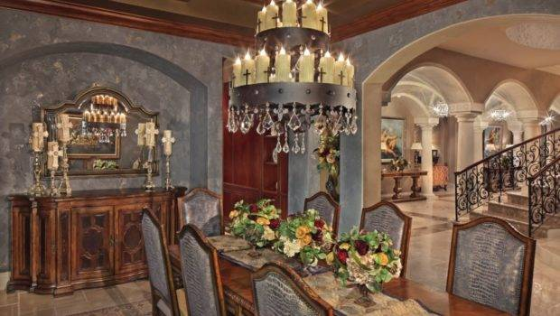 Chandelier Certainly Adds Some Gothic Glamour Dining Room