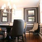 Charcoal Gray Paint Color Contemporary Dining Room Restoration