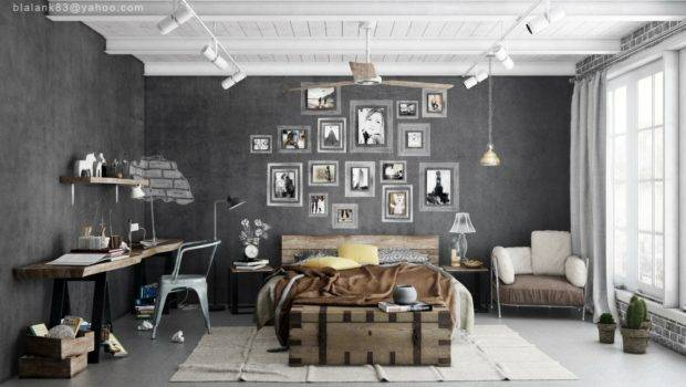 Charcoal Gray Walls Lifted Presence Bright White