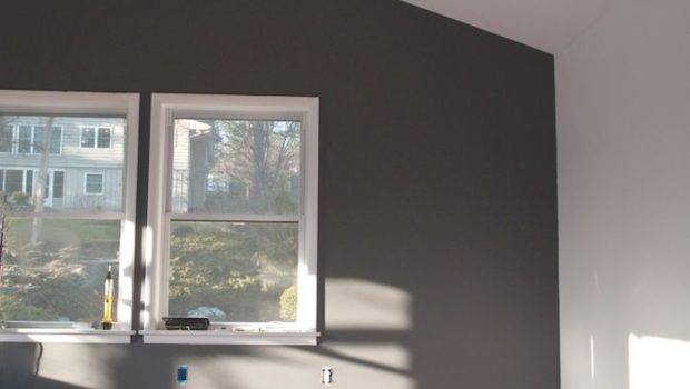 Charcoal Grey Feature Wall Love Home Pinterest