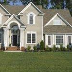 Charming House Color Schemes Exterior Brown Roof White Window Frames