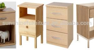 Cheap Bedroom Furniture White Narrow Wood Nightstand Bedside Table