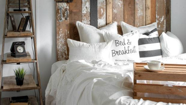 Cheater Reclaimed Wood Barn Door Headboard Faux
