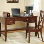 Cherry Finish Modern Home Office Desk Optional Chair