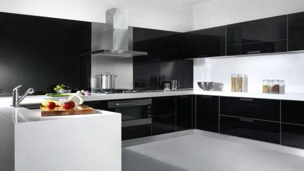 China Glass Lacquer Door Kitchen Cabinet