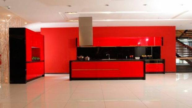 China Ikea Contemporary Red Lacquer Kitchen Cabinetry Photos