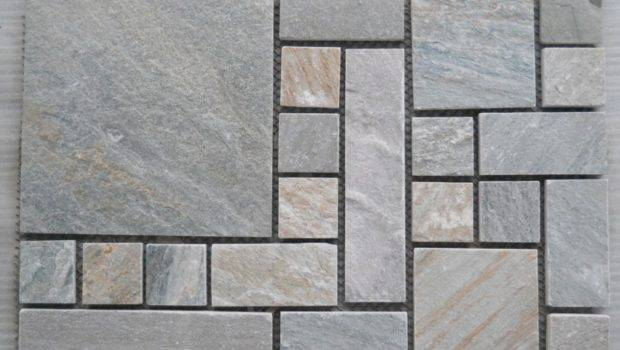 China Natural Slate Flooring Tile Mosaic Pattern Paving Stone Photos