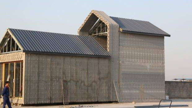 China Recycled Concrete Houses Printed Hours