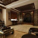 Chinese Classical Interior Design Wall Living