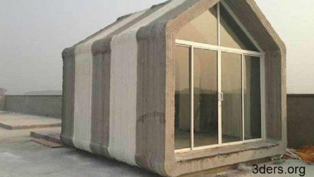 Chinese Company Assembles Printed Concrete Houses Day