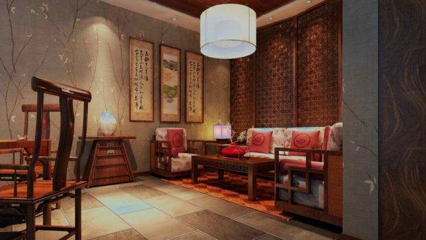 Chinese Living Room Wood Furniture Ceiling Design House