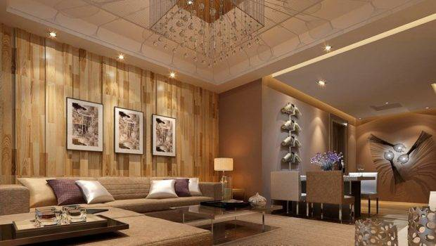 Chinese Style Living Room Wooden Wall