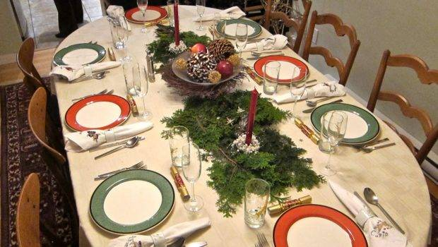 Christmas Banquet Table Decorations Red Candle
