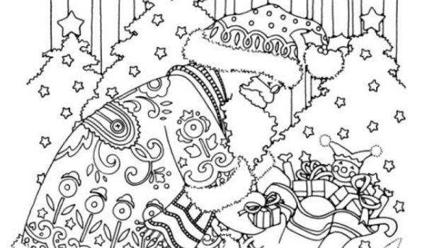 Christmas Coloring Pages Adults Best