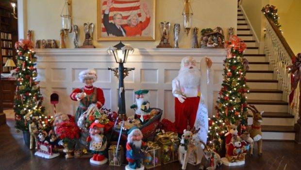 Christmas Decorated Homes Inside Governor Roy Marie Barnes Home