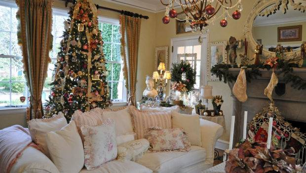 Christmas Decorated Homes Inside House Decorations