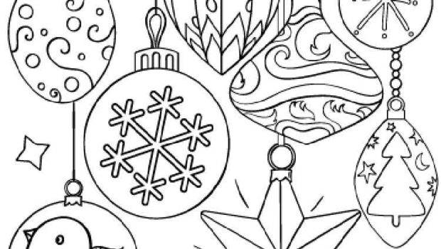 Christmas Decorations Coloring Pages Printable