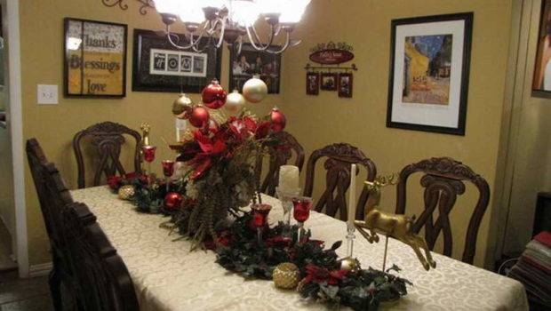Christmas Dining Room Table Decorations Lamp