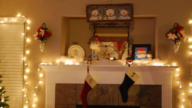 Christmas Fireplace Display Most Wonderful Time
