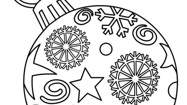 Christmas Ornament Coloring Pages Best