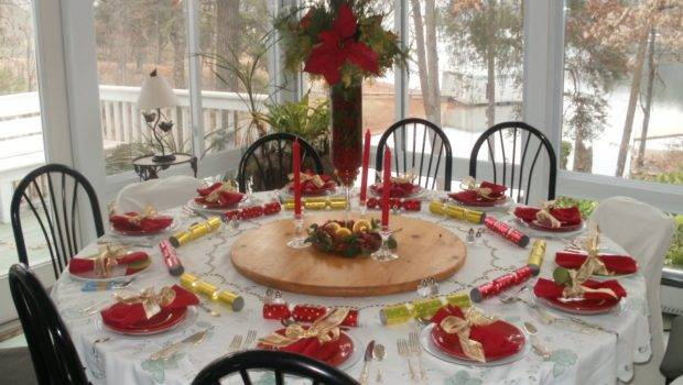 Christmas Table Decorations Gold