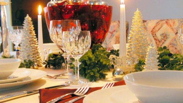 Christmas Table Decorations White Ideas