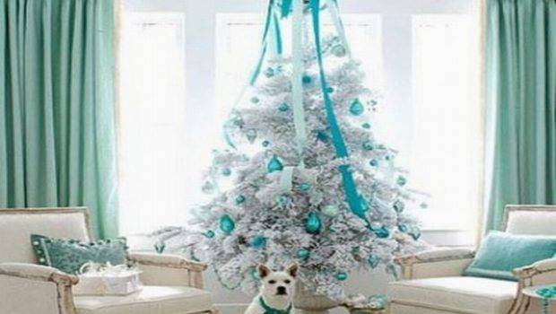Christmas Tree Decorations Blue Decor Ideas Marvelous White