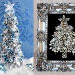 Christmas Tree Decorations Framed Jewelry