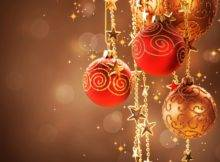 Christmas Tree Decorations Red Gold Decor
