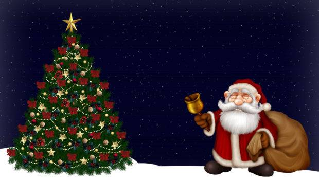 Christmas Tree Santa Claus Gifts Merry
