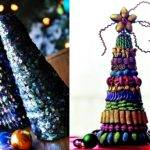 Christmas Tree Toppers Jewelry Sequins