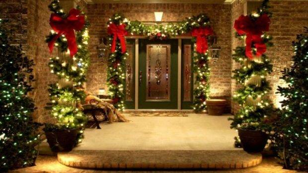 Christmas Wreaths Trees Lights Decorating Ideas Outdoor
