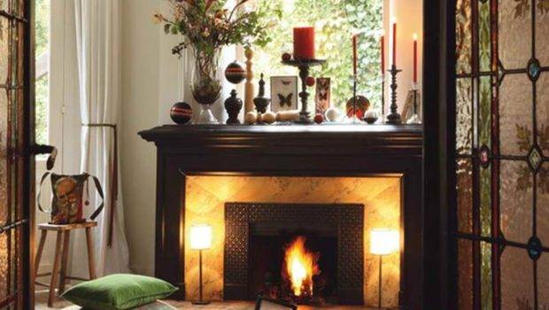 Christmast Hearth Decorations Ideas Mantel Pinterest
