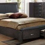Cinema King Bed Charcoal Leon