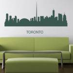 City Landscape Silhouette Modern Wall Art Sticker