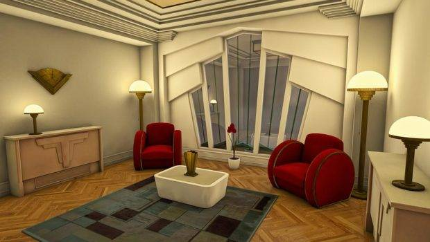 Classic Art Deco Living Room Digital