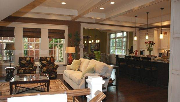 Classic Home Open Floor Plans Design Featuring Living Room Kitchen