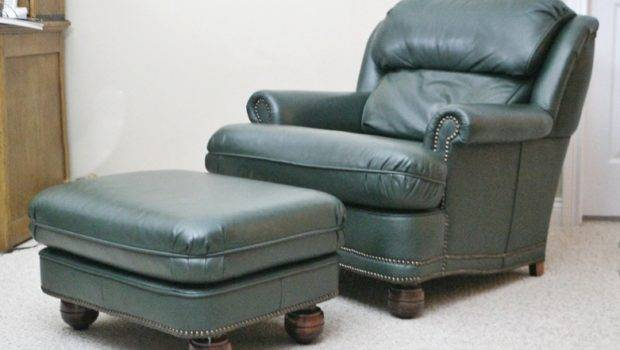 Classic Leather Club Chair Matching Ottoman Items