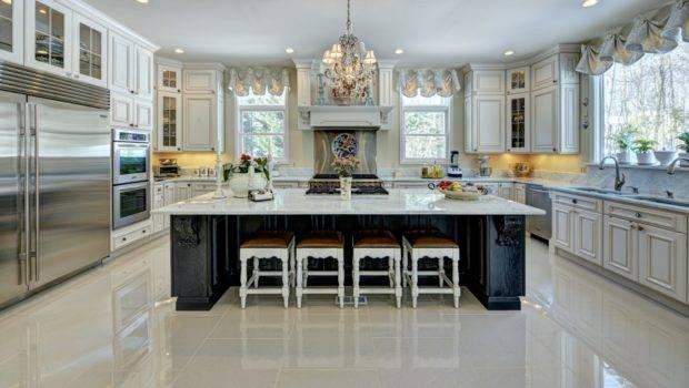 Clean Sleek Look White Countertops Complements Many Different