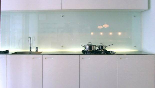 Clear Glass Backsplash Often Seen Modern Scandinavian Kitchen