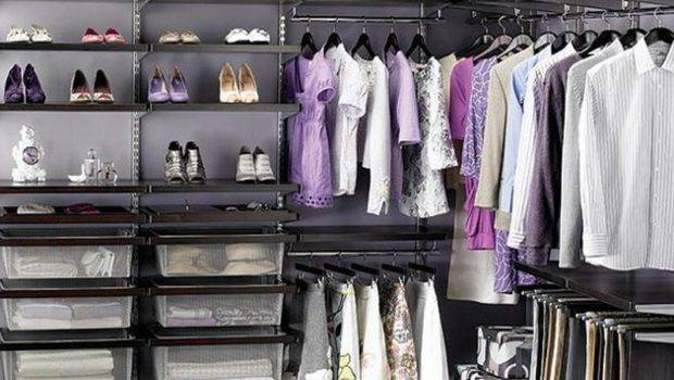 Closet Organization Ideas Elfa Walnut Master Organizing