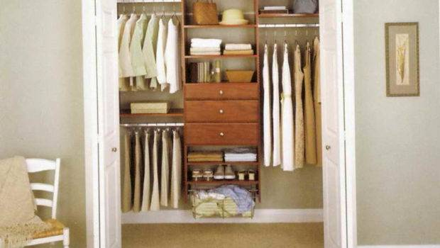 Closet Organizing Ideas Wooden Chair