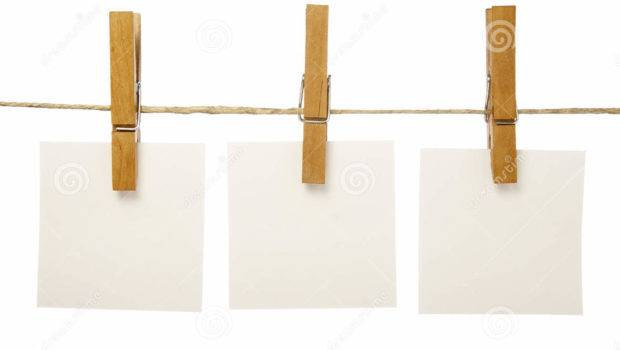 Clothespins Notepads Clasp Hang